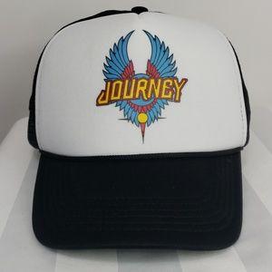 Journey snap back trucker hat.